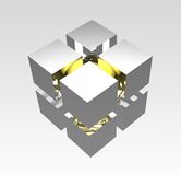Het pictogram van de kubus stock illustratie