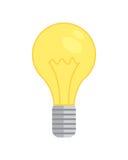 Het pictogram van de lampbol nieuwe idee geïsoleerde vectorillustratie lightbulb energie royalty-vrije stock afbeeldingen