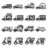 Het pictogram van de leveringsauto Stock Foto