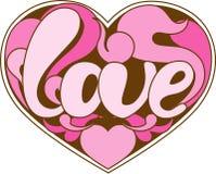 Het pictogram van de liefde Stock Foto's