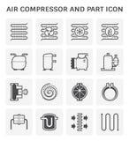 Het pictogram van de luchtcompressor royalty-vrije illustratie