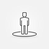 Het pictogram van de mensenlijn Royalty-vrije Stock Afbeeldingen