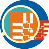 Het pictogram van de microchip Royalty-vrije Stock Fotografie