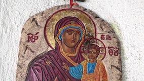 Het Pictogram van de Moeder van God stock footage