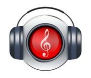 Het pictogram van de muziek Stock Foto