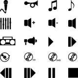 Het pictogram van de muziek Stock Afbeeldingen