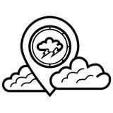 Het pictogram van de onweerswijzer royalty-vrije illustratie