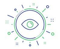 Het pictogram van de ooglijn Kijk of Optisch Visieteken Vector vector illustratie