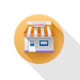 Het pictogram van de opslag Het pictogram van de winkel Royalty-vrije Stock Afbeelding