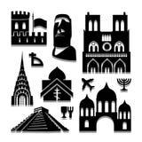 Het pictogram van de oriëntatiepuntreis groot voor om het even welk gebruik Vector eps10 Stock Afbeeldingen