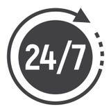 Het pictogram van de passagetijd glyph, 24 uurhulp Royalty-vrije Stock Foto