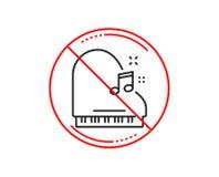 Het pictogram van de pianolijn Muzikaal instrumententeken Vector royalty-vrije illustratie