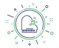 Het pictogram van de pianolijn Muzikaal instrumententeken Vector stock illustratie