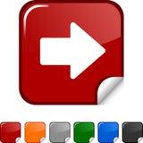 Het pictogram van de pijl. Stock Foto's