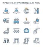Het pictogram van de pijpleidingsbouw Royalty-vrije Stock Foto