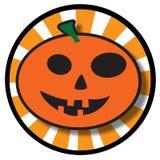 Het Pictogram van de Pompoen van Halloween Royalty-vrije Stock Foto