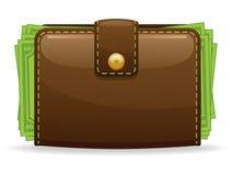 Het Pictogram van de portefeuille vector illustratie