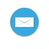 Het pictogram van de post grafische illustratie Stock Afbeelding