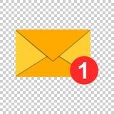 Het pictogram van de postenvelop in vlakke stijl E-mailberichtvector illustrat royalty-vrije illustratie