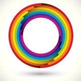 Het pictogram van de regenboog. Stock Afbeelding