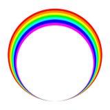 Het pictogram van de regenboogring stock illustratie