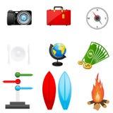 Het pictogram van de reis Stock Afbeelding