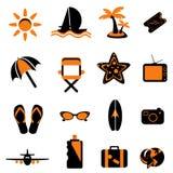 Het pictogram van de reis Stock Foto's