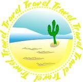 Het pictogram van de reis Stock Foto