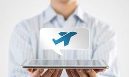Het pictogram van de reistoepassing Stock Foto