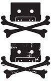 Het pictogram van de Schedel van de cassette Royalty-vrije Stock Foto