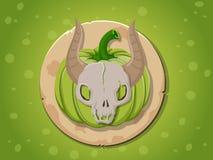 Het pictogram van de schedelpompoen Royalty-vrije Stock Fotografie