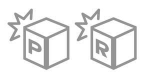 Het pictogram van de schokweerstand Vector royalty-vrije illustratie