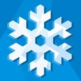 Het pictogram van de sneeuwvlok (vector) vector illustratie