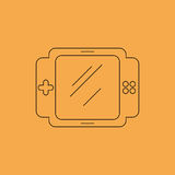 Het pictogram van de spelconsole Royalty-vrije Stock Afbeeldingen