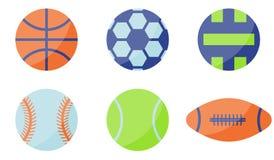 Het Pictogram van de sportbal Vlakke stijl royalty-vrije illustratie