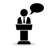 Het pictogram van de spreker Stock Afbeelding