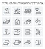 Het pictogram van de staalproductie Royalty-vrije Stock Fotografie