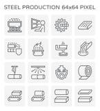 Het pictogram van de staalproductie Royalty-vrije Stock Foto