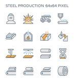 Het pictogram van de staalproductie Royalty-vrije Stock Foto's