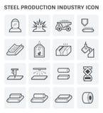 Het pictogram van de staalproductie Stock Afbeeldingen