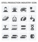 Het pictogram van de staalproductie Stock Foto's
