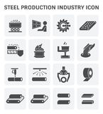 Het pictogram van de staalproductie Royalty-vrije Stock Afbeelding