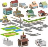 Het pictogram van de stad vector illustratie