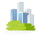 Het pictogram van de stad Stock Foto's