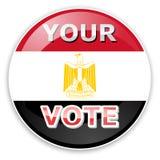 Het pictogram van de stem met de vlag van Egypte vector illustratie