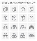Het pictogram van de straalpijp Stock Fotografie