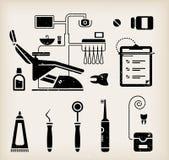 Het pictogram van de tandarts Stock Fotografie