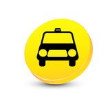 Het pictogram van de taxi Stock Afbeeldingen