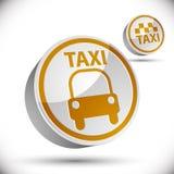 Het pictogram van de taxiauto Stock Fotografie