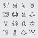 Het pictogram van de toekenningslijn stock illustratie